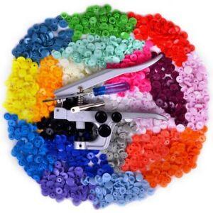 300 Kam Snaps Druckknöpfe und Snap Zange,20 Farben,Snapzange,Set,Druckknopfzange