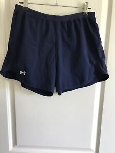 womens Navy Blue UNDER ARMOUR running Athletic Wear shorts size MD