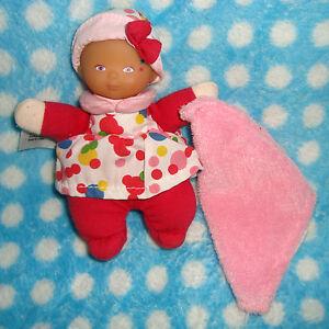 D # doudou poupée Minirêves hochet rose fushia mouchoir COROLLE
