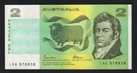 Australia R-89L. (1985) 2 Dollars - Johnston/Fraser.. Last Prefix LQG..  UNC