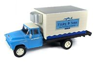 Classic Metal Works HO 30569 1955 Chevy Box Refrigerated Truck, Fresh Fish. New