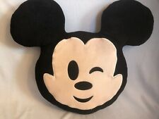 Disney Emoji Mickey Mouse Winking 11 inches Plush pillow headrest toy