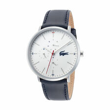 Lacoste 2010975 Moon Men's 40mm White Dial Leather Watch