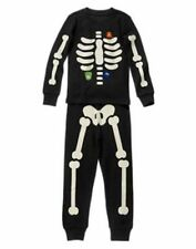 NWT GYMBOREE BLACK Glow in the Dark SKELETON HALLOWEEN PJS PAJAMAS GYMMIES sz 2T