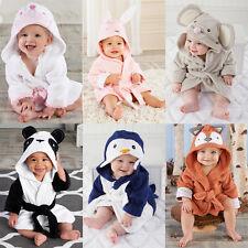 Cute Boy Girl Animal Bathrobe Baby Hooded Bath Towel Infant Bathing Blanket AU