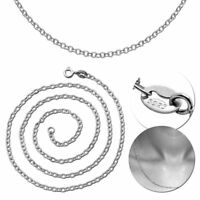 Silberkette 925er Sterling Silber Ø 2,4mm Ankerkette Halskette Collier Kette
