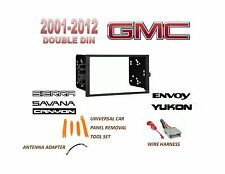 2 DIN CAR STEREO INSTALL DASH KIT for 2001-2012 GMC YUKON SIERRA SAVANA ,HARNESS