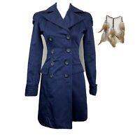 Kut From The Kloth Long Black Ruffle Cardigan Jacket Womens Size Medium Coat