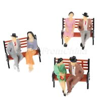 Model Plain People Sitting Diorama Scenery Layout 1:100 Scale HO Painted 100pcs