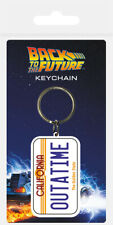 Back To The Future (License Plate) OUTATIME Keyring *OFFICIAL* FAST UK DISPATCH