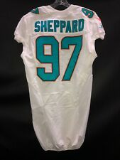 #97 MIAMI DOLPHINS KELVIN SHEPPARD GAME USED WHITE AUTHENTIC NIKE JERSEY LSU