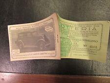Biglietto lotteria scuola di ceramica di S. Salvatore Roma per FIAT BALILLA 1933