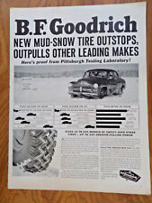 1950 B F Goodrich Tire Ad  Mercury Chevrolet ?