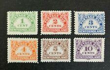 Newfoundland Stamps #J1-6 MH