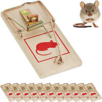 Traditional Wooden Mouse Traps Classic Mice Rat Pet Rodent Control Catch Trap TP