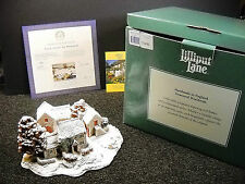 Lilliput Lane First Snow At Bluebell Ltd. Edition 1997 NIB & Certificate L2122