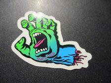 "SANTA CRUZ Skate 3"" Sticker Neon Screaming Hand Logo skateboard helmets decal"