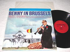 """Benny Goodman & Orch """"Benny In Brussels-Volume I"""" 1970's Jazz LP, Nice NM-!"""
