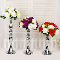 Metal Flower Candle Holder Vase Stand Wedding Event Centerpiece Rack Vintage Art