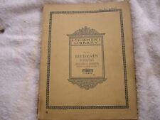 Schirmer's Library Volume 301 Beethoven Sonatas Bulow Lebert