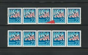 US EFO, ERROR Stamps: #2606 Chrome USA. Color shift PS5, #A1111 PNC MNH
