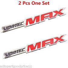 """2 Pcs Red 3D """" Vortec MAX """" Logo Emblem Sticker Badge Decal Car Body Decoration"""