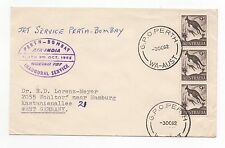 1962 AUSTRALIA Air India First Flight Cover PERTH - WOHLTORF GERMANY SG318 Block