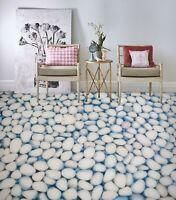 3D White Pebbles 040 Floor WallPaper Murals Wall Print Decal UK Zoe