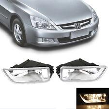 2X Fog Light car lights H11 Bulb KIT Black For Honda Accord Acura 2003-2007