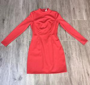 niki minaj Hm Red Dress Size Small With Shoulder Pads Vgc