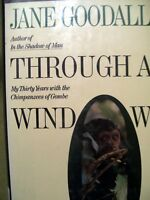 Through a Window by Jane Goodall (1990, Hardcover) 30 years Gombe Chimpanzees
