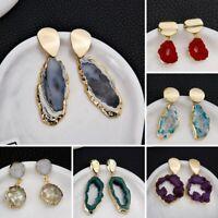 Fashion Natural Stone Irregular Earrings Ear Stud Drop Geometry Women Jewelry