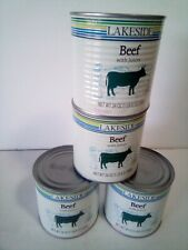 4 Cans Of Lakeside Foods Beef w/ Juices 24 Oz. Each Can