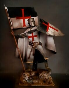 "12"" CUSTOM TEMPLAR KNIGHT CRUSADER , MEDIEVAL HOLY WARRIOR 1/6 FIGURE IGNITE"