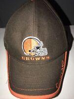 VTG 1990s Cleveland Browns Hat Embroidered Cap NFL Adult Curved Strapback Orange