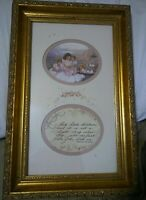 SALE** ANN TAYLOR ART CHARLE DICKENS POEM Professional Framed Autographed 1993