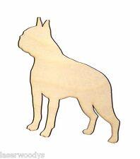 Boston Terrier Dog Unfinished Wood Shape Bt5505 Crafts Lindahl Woodcrafts