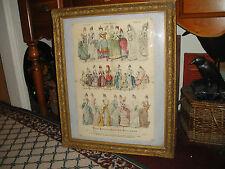 Antique Young Ladies Journal 1887 Paris Fashion Plates-Gilded Frame-#49-XMAS