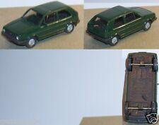 MICRO WIKING HO 1/87 VW VOLKSWAGEN GOLF II VERT FONCE intérieur noir