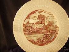"Anne Hathaway cottage plate 9"" br Royal Cauldon '49 Eng"