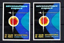 2 VIGNETTES CONCORDE  29 et 30 SALON AERONAUTIQUE ESPACE LE BOURGET 1971 1973