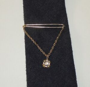 Vintage US Veterans of foreign wars men's Tie Chain clip clasp