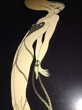 Erte / L'AMOUR GOLD FOIL LITHOGRAPH 1979 MIRAGE / Professionally Framed