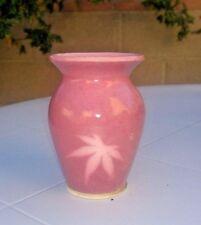 Art Studio Hand Thrown Raised Flowers Pottery Vase