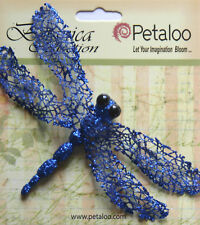 Glittered DRAGONFLY Single Pack ROYAL BLUE - 70x120mm Wingspan Botanica Petaloo
