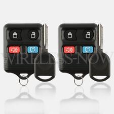 2 Car Key Fob Keyless Remote Entry For 2003 2004 2005 Ford Thunderbird + Key
