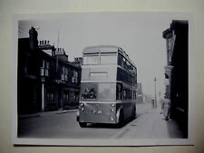 ENG1023 - 1940s TEESIDE RAILLESS TRACTION BOARD - BUS No18 Photo