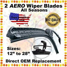 "AERO 24"" & 18"" PREMIUM QUALITY SUMMER WINTER BRACKETLESS WINDSHIELD WIPER BLADES"