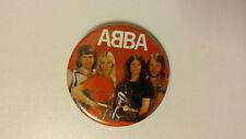 Abba vintage logo buttons pop group LARGE BUTTON 1 Benni Bjorn Agnetha