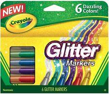 Crayola Glitter Marker 6 ea